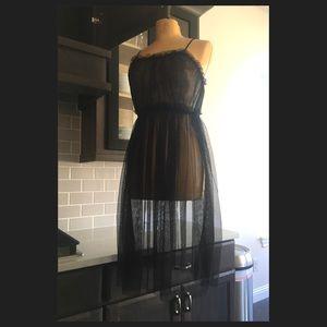 Free People 💕 mesh tulle babydoll dress slip